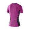 Women Athletic Training Top pinkmel_dkgrey back